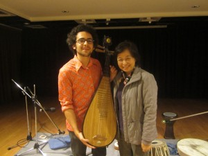 Andrew with Teacher Xiao, Pipa Performance, Taipei, Taiwan